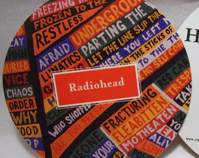Featured listing image: Radiohead Sticker Hail to The Thief Album Art Big Glossy Round Stickers