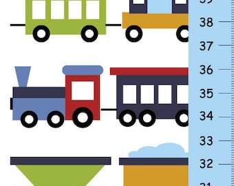 Children Trains GROWTH CHART for boys