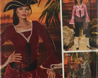 Simplicity 0509 / 4914 Woman's Pirate Costume Pattern, Teresa Nordstrom, Wright's Costume,  size 14-22 uncut from 2004