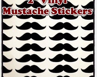 Mustache Decals - Set of 75 - 2 Inches Wide Each - Envelope Labels - Cup Decals - Moustache Bash - Party Favors - Balloon Decorations
