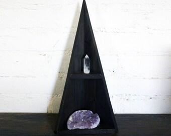 Medium Triangle Corner Curiosity Cabinet