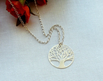 Tree Of Life Necklace, Sterling Silver Tree of Life Pendant Charm, Best Friend Gift,  Tree Of Life Jewelry, Silver Tree Necklace Pendant