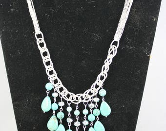 necklaces, turquoise necklaces, magnesite necklaces, silver necklaces, chain necklaces, pendant necklaces