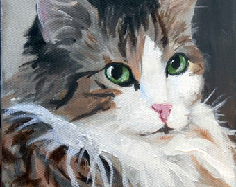 Custom Cat Portrait Oil Painting, 8 x 10 Gift Certificate