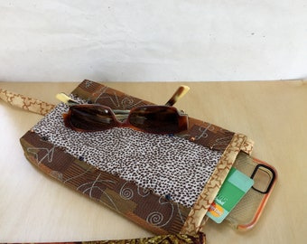 Casual bag, yoga bag, festival bag, small earthtone sling bag, mini shoulder purse with a long strap