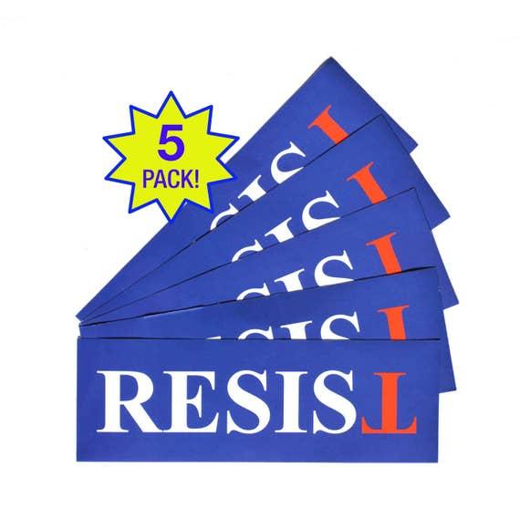 Resist anti trump sticker free ship 5 pack laptop or