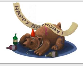 Happy Birthday Bear greeting card
