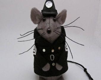 Police Mouse - Felt Mice - Felt Mouse - Policeman Mouse Ornament