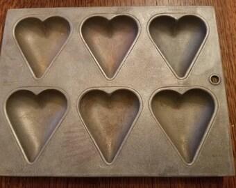 Vintage Wilton  Cast Aluminum Heart Tart Pan/Mold Valentine's Day