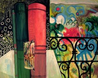 The balcony painting