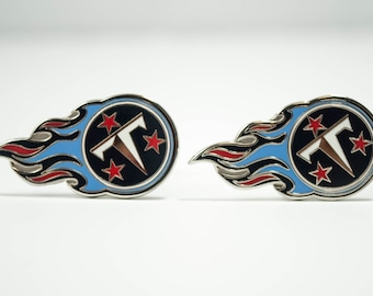 Tennessee Titans Cuff Links -- FREE SHIPPING with USPS First Class Domestic Mail