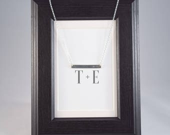 Sterling Silver Bar Necklace with Arrow Detail