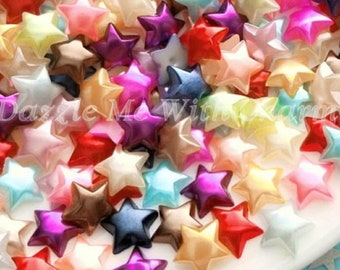 10mm pearl stars cabochon flatback mixed colors jewelry embellishment scrapbooking hair accessories decoden phone case embellishment *20pcs*