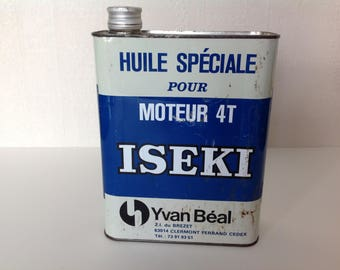 Old oil can / motor 4 T / ISEKI / Yvan Beal / 2 Litres