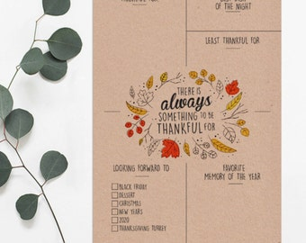 INSTANT DOWNLOAD - Thanksgiving Table Decor | Thankful For