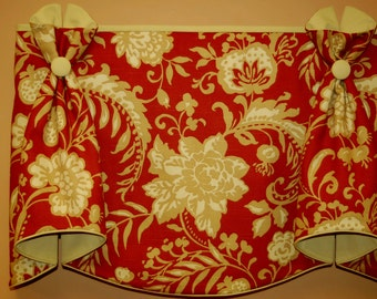 "Custom Valance BUNNY EARS Hidden Rod Pocket® Valance fits 47""- 66"" window, made with customer's fabric, LABOR , lining only"