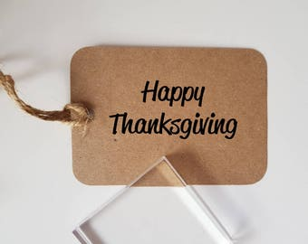 Happy Thanksgiving Rubber Stamp