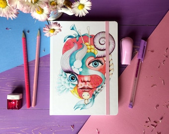 """Sketchbook """"Strawberry Girl"""" with universal paper 170gr"""