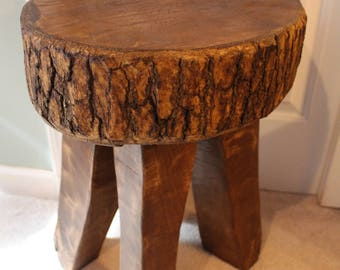 "Maple End Table, Base, Stool Etc.  Aprox. 20.5"" x 16"" x 15"""