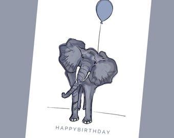 HAPPY BIRTHDAY - Elephant