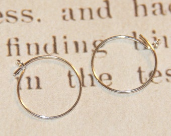 Small hoop earrings in silver plated 12mm