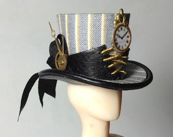 Steampunk dress and accessories on mannequin, 1/12 scale. one of a kind