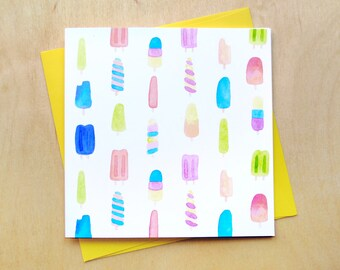 Popsicles greeting card
