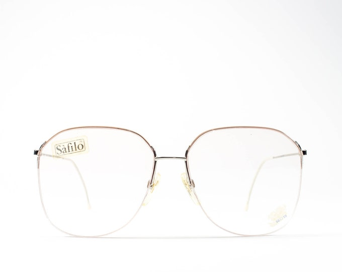 Vintage Glasses   Minimalist 80s Eyeglasses   Peach 1980s Eyeglass Frames   Ultra Lightweight - UFO 3511