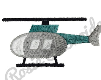 Helicopter Embroidery Design Instant Download Digital Pattern - RE10