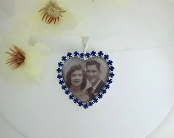 Something blue, wedding bouquet charm.  I will do your photo