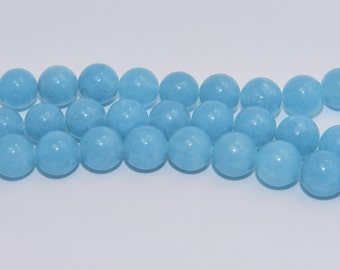 Blue Sponge Quartz - Full Strand - 10 mm, Round - BSQ-R-10-DC