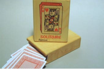 Solitaire playing card box