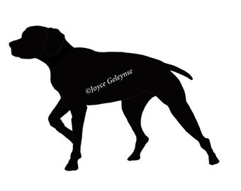 Digi Stamp, Hand Drawn Clip Art, Short Haired Pointer Dog, Original Freehand Drawing, Commercial Use, INSTANT DOWNLOAD