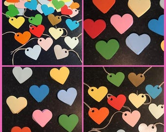 Love Heart Gift Tags 30 per pack Multicoloured