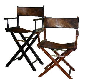 18 Inch Custom Cowhide Directors Chairs