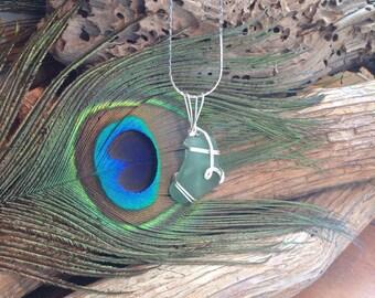 Sea Glass Necklace,  Sea Foam Green - Genuine - PEI - Jewellery