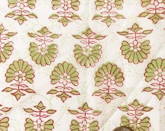 Gathered Lamp Shade, Floral Lamp Shades, Block Print Lamp Shade Green, Fabric Lampshades, Bohemian Lamp Shade Boho, Shirred Lampshades