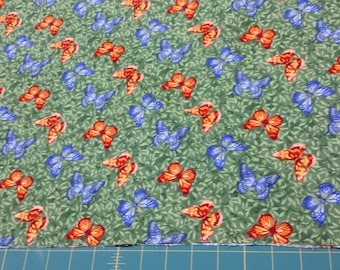 Northcott Butterfly Wildflowers Deborah Edwards 1/2 Yd Cotton Fabric Free Shipping 5723