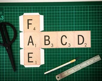 Kids paper crafts, Diy letter blocks, Printable letter Blocks, Printable craft for kids, Diy for kids, instant download.