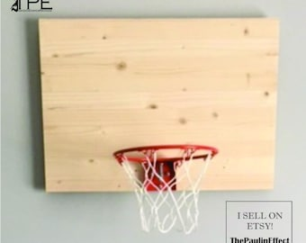 Basketball Goal Wall Decor-UNFINISHED-Decorate your own way! Great gift for basketball boys and girls. Family Crafts-CHOOSE SIZE
