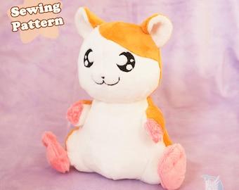 Kawaii Plush Sewing Pattern Hamster Plushie