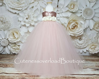 Blush Flower Girl Tutu Dress-Blush Tutu Dress-Blush Bride Dress-Blush Tutu-Blush Wedding Tutu Dress-Blush Birthday Tutu-Flower Girl Tutu