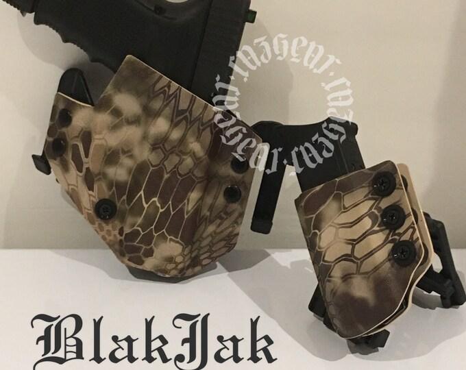 BlakJak holster mag combo in Kryptek Highlander (NEWMODEL!) . Click on variations when ordering.