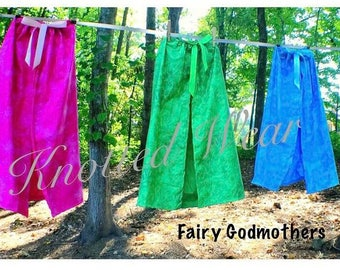 Fairy Godmother Cape: blue pink or green cape, halloween  costume, birthday, vacation, adjustable, sleeping beauty, meet and greet