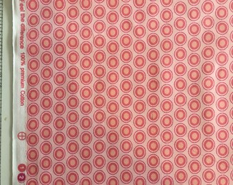Parfait Pink Oval Elements Fabric by the Yard-Art Gallery