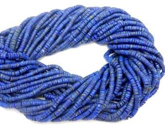 Lapis Lazuli 3mm x 1mm Heishi Beads-- 1 Full STRAND (S64B25-03)