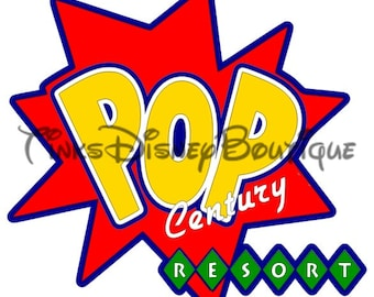 Disney SVG Clipart Pop Century Resort Title Scrapbook Vacation World Cricut Silhouette Print Then Cut