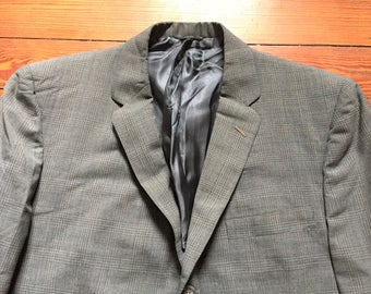 Vintage 60s Gray Plaid Lightweight Sport Coat 40