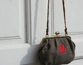 Vintage crossbody bag, Small crossbody, Small pouch, Small purse, Vintage bag, Embroidered bag, Boho bag, Party bag, Festival bag, Bohemian