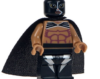 Lucha Libre Mexican Wrestler Fighter Rayo De Jalinsco Custom Printed Minifigure Compatible with LEGO